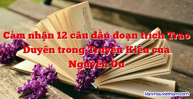 Cảm nhận 12 câu đầu đoạn trích Trao Duyên trong Truyện Kiều của Nguyễn Du