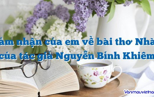 Cảm nhận của em về bài thơ Nhàn của tác giả Nguyễn Bỉnh Khiêm
