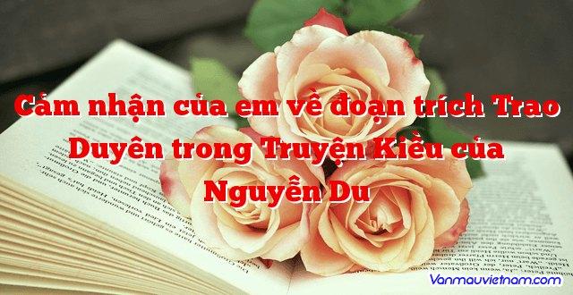 Cảm nhận của em về đoạn trích Trao Duyên trong Truyện Kiều của Nguyễn Du