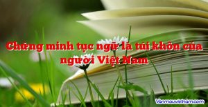 Chứng minh tục ngữ là túi khôn của người Việt Nam
