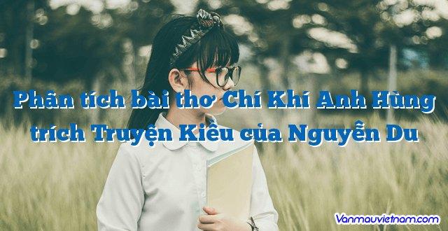 Phân tích bài thơ Chí Khí Anh Hùng trích Truyện Kiều của Nguyễn Du