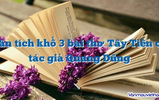 Phân tích khổ 3 bài thơ Tây Tiến của tác giả Quang Dũng