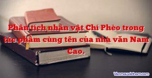 Phân tích nhân vật Chí Phèo trong tác phẩm cùng tên của nhà văn Nam Cao.
