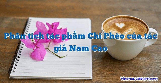 Phân tích tác phẩm Chí Phèo của tác giả Nam Cao