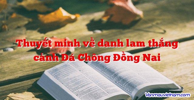 Thuyết minh về danh lam thắng cảnh Đá Chông Đồng Nai