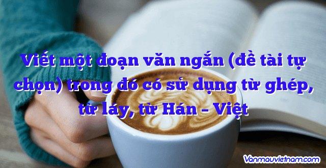 Viết một đoạn văn ngắn (đề tài tự chọn) trong đó có sử dụng từ ghép, từ láy, từ Hán – Việt